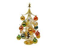 Oro multicolor 40cm Glass Tree with18+1 Ornaments GB-XM-2003