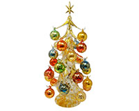 Oro multicolor 50cm Glass Tree with26+1 Ornaments GB-XM-2004