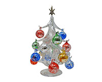 Argento Lucido 25cm Glass Tree with16+1 Ornaments GB-XM-2006