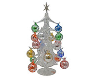 Argento Lucido 40cm Glass Tree with18+1 Ornaments GB-XM-2008