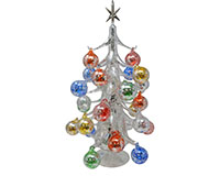 Argento Lucido 50cm Glass Tree with26+1 Ornaments GB-XM-2009