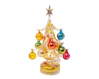 Oro multicolor Luminosa 20cm Glass Tree with12+1 Ornaments GB-XM-2010L