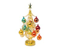 Oro multicolor Luminosa 25cm Glass Tree with16+1 Ornaments GB-XM-2011L