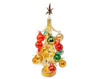 Oro multicolor Luminosa 30cm Glass Tree with 16+1 Ornaments GB-XM-2012L