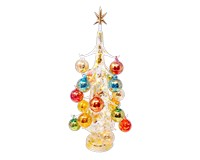 Oro multicolor Luminosa 40cm Glass Tree with18+1 Ornaments GB-XM-2013L