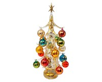 Oro multicolor Luminosa 50cm Glass Tree with26+1 Ornaments GB-XM-2014L