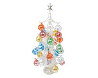 Argento Lucido Luminosa 50cm Glass Tree with26+1 Ornaments GB-XM-2019L