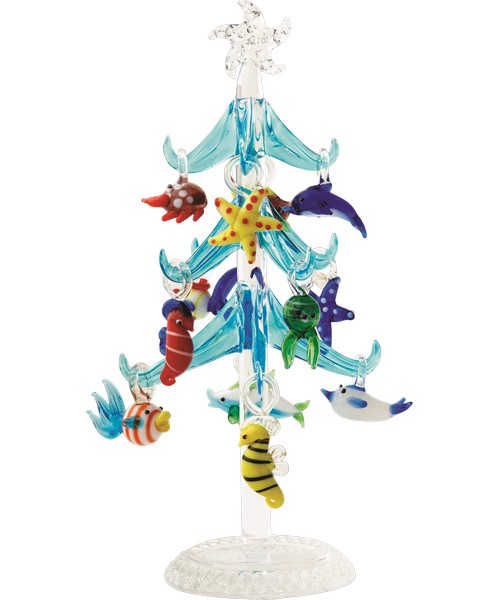 Tree - Sea Life - Blue - 7.75 Inch - GB XM-576'