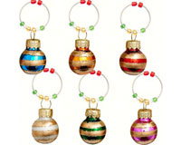 Wine Charms - Ornament. Stripes - S/6-XM-634