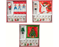Hostess Set - Tree/Snowman/Santa XM-662