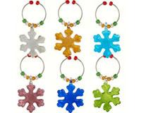 Wine Charms - Snowflakes - S/6 XM-689