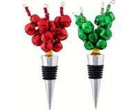 Bottle Stopper - Bells - 2 Assortment. - Red/Green XM-709