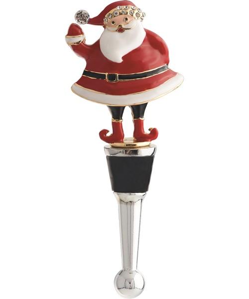 Bottle Stopper - Santa - Metal XM-924'