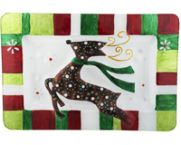 Christmas Platter - Reindeer - 14x9.5 Inches XM-930