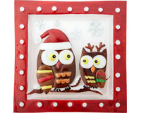 Christmas Platter - Holiday Owls - 11.5 Inch Square-XM-933
