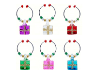 Wine Charms - Christmas Gift Box- S/6-XM-962