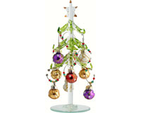 Tree - Green - 7.5 Inch - with 9 Pear Ornament Wine Charms - GB XM-972