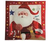Christmas Platter - Santa - 13.5 Inch Square XM-987