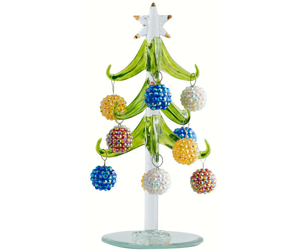 Tree - Green - 6 Inch - with Bling Ornaments - GB