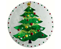Christmas Platter - Tree - 12 Inch Round XM-996