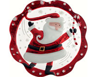 Christmas Platter - Santa - 11 Inch Round XM-998