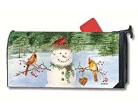 Snowman bird feeder Mailwrap-MAIL01374