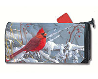 Cardinal in Snow Mailwrap-MAIL01385