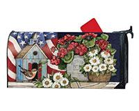 Patriotic Bird House MailWraps-MAIL01853