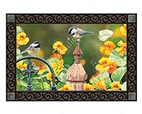 Chickadee Fence Post MatMates-MAIL11629