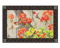 Hummingbirds with Geraniums MatMate-MAIL11631