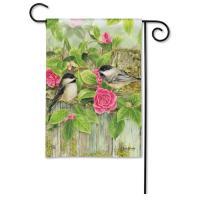 Garden Chickadees Garden Flag-MAIL32137