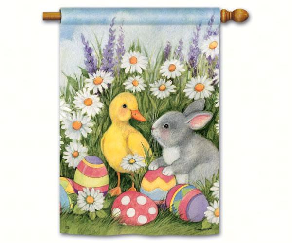 Easter Babies Std Flag