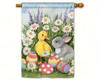 Easter Babies Std Flag-MAIL91469