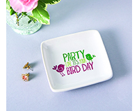 Bird Day Trinket Dish-MAILBN6003