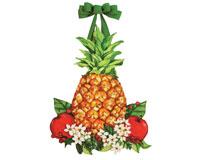 Holiday Pineapple Door Decor-MAILDD0133