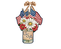 USA Mason Jar Door Decor-MAILDD1682