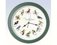 Audubon Singing Clock 13 in. green-MFAUD13