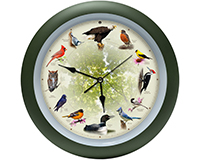 20th Anniversary 13 inch Bird Clock-MFBIRD13