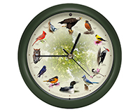 20th Anniversary 8 inch Bird Clock-MFBIRD8