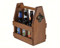 Wood Beverage Caddy withBottle Opener-MFBVCAD