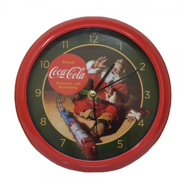 Coca-Cola Santa withTrain 8 inch Sound Clock