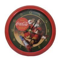 Coca-Cola Santa withTrain 8 inch Sound Clock-MFCCSCT