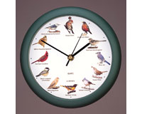 Original Singing Bird Clock 8 inch Green-MFDLB9821E