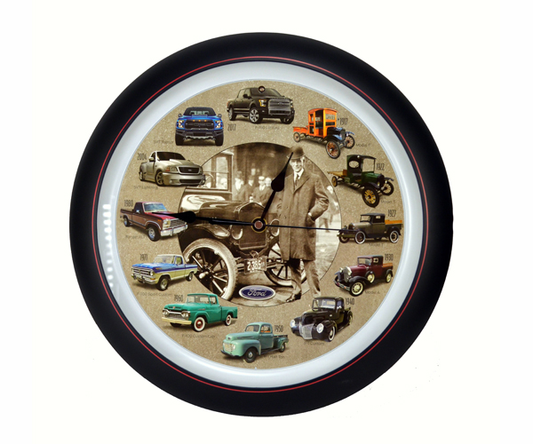 Ford Truck 100th Anniversary 13 inch Sound Clock Grill Center
