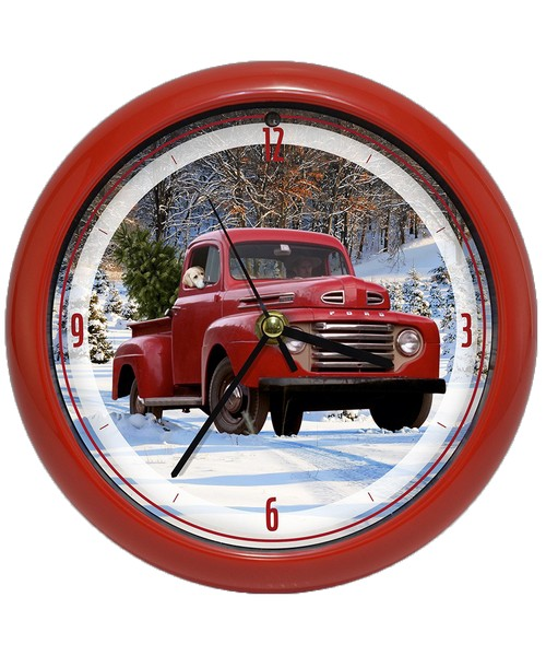 Ford Holiday Truck 8 inch Sound Clock