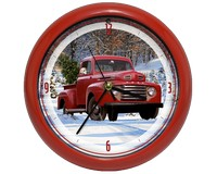 Ford Holiday Truck 8 inch Sound Clock-MFFTX81