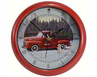 Ford Holiday Truck Version II 8 inch Sound Clock-MFFTX82