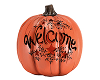 Welcome Resin Orange Pumpkin MFGBPKOR