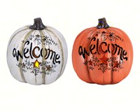 Welcome LED Resin Pumpkin MFGBPKROWA