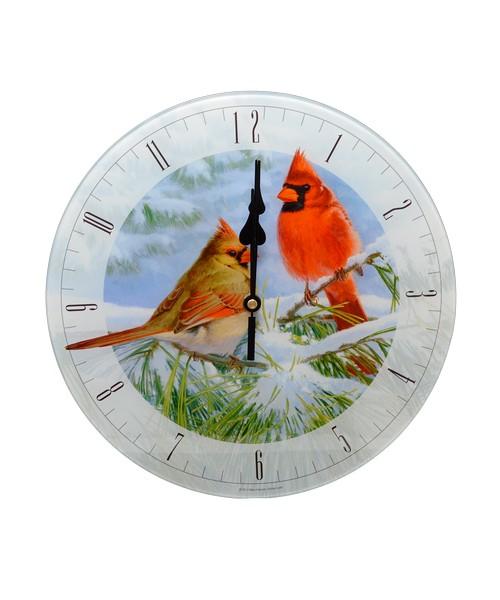 Marc Hanson Winter Light 12 inch Glass Clock